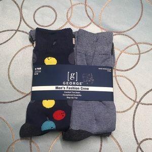 George Men's Fashion Novelty Crew Socks